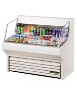 True THAC-48 Horizontal Air Curtain Merchandiser Cooler