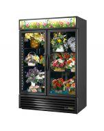 True GDM-49FC-HC~TSL01 | Floral Cooler, 2 Hinged Glass Doors