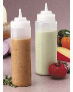 24 Oz Clear Squeeze Bottle Wide Mouth Tablecraft