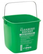 Winco 6 Qt Janitorial Soap Pail Cleaning Bucket, Green