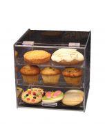 Clear Acrylic Three-Tray Bakery Case