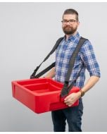 Hawker 32-Can Vending Tray w/ Strap for Stadium Concessions | Red