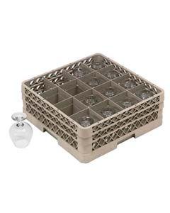 "Dishwasher Glass Cam Rack for 16 Glasses, 15 1/2""H"