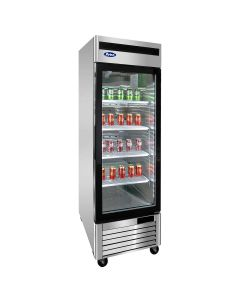 Atosa MCF8701GR One Section Single Door Freezer Merchandiser
