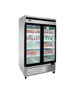 Atosa MCF8703GR Two Section Two Door Freezer Merchandiser