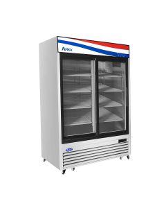 Atosa MCF8709GR Two Section Two Sliding Door Refrigerator Merchandiser