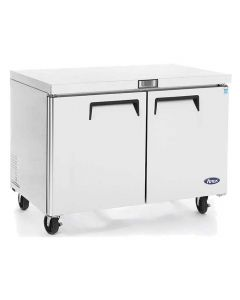 """Atosa MGF8402GR Two Door Dual Section Undercounter Reach-In Refrigerator 