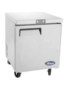 """Atosa MGF8405GR Single Door One Section Undercounter Reach-In Freezer 