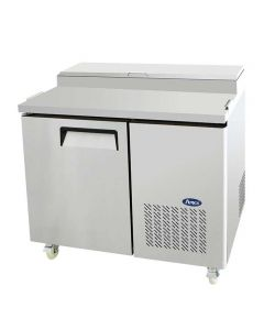 "Atosa MPF8201 44"" Single Door Refrigerated Reach-In Pizza Prep Table"