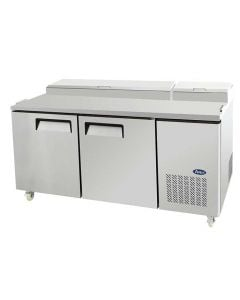 "Atosa MPF8202 67"" Two Door Refrigerated Reach-In Pizza Prep Table"
