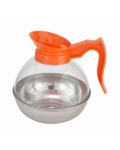 64 Oz. Plastic Coffee Decanter - Orange Handle