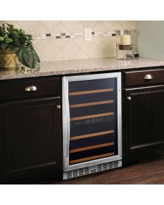 Eurodib USF54D Undercounter Wine Cabinet   Dual Zone   46 Bottle Capacity