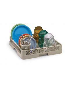 Vollrath Combo Restaurant Dishwasher Rack (1/2 Peg Rack, 1/2 Open)