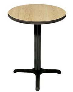 """Round Bar & Restaurant Table (30"""" Tall Base with 24"""" Diameter Top)"""