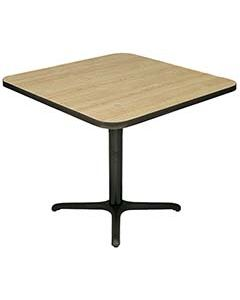 """36"""" Square Restaurant Table Top & Cast Iron Base"""