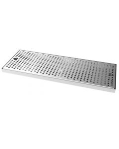 "20"" x 7-1/4"" Stainless Steel Surface Mount Drip Tray Pan"