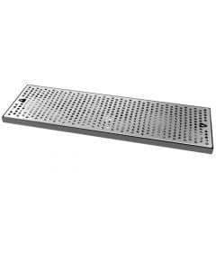 "24"" x 7-1/4"" Stainless Steel Surface Mount Drip Tray Pan"