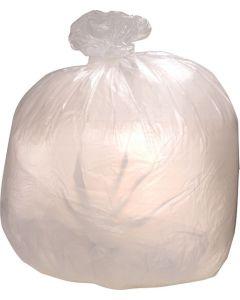 "High Density Clear Trash Can Liner | 15 Gallon Capacity | 24"" x 33"" | 1000/cs"