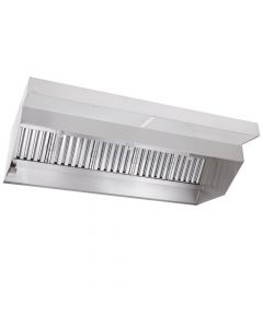 Econ-Air Low Ceiling Hood, 8' | Sloped