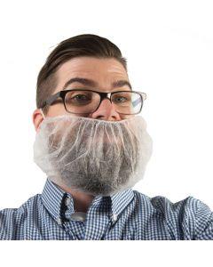 Bouffant Cap Disposable Beardnets (White, 100-Pack)