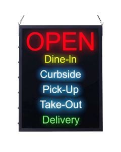 All-In-One LED OPEN Sign with Restaurant Status