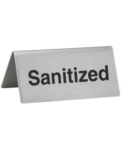 Sanitized - Tabletop Tent Sign