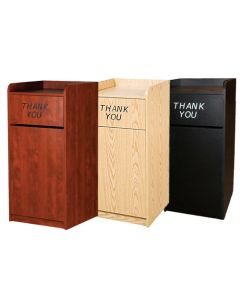 Oak St. Commercial Restaurant Trash Can Receptacle Cabinet | Unassembled