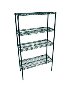 "Industrial Epoxy Wire Shelving Kit 60""W × 24""D × 74""H"