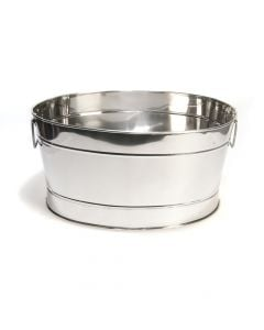 Large Oval Stainless Steel Party Ice Tub for Drinks