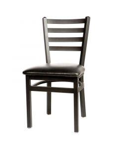 Ladderback Restaurant Dining Chair, Metal Frame