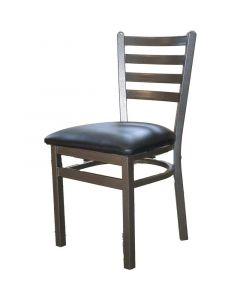 Oak Street Silvervein Ladderback Metal Frame Dining Chair