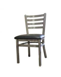 Oak Street Clear Coat Ladderback Metal Frame Dining Chair