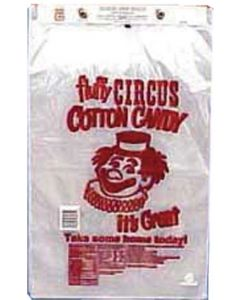 Cotton Candy Printed Clear Bags   1000/CS
