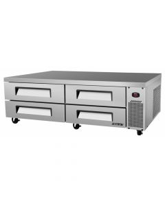 """Turbo Air 4 Drawer Deluxe Refrigerated Chef Base, 83-5/8"""" Wide"""