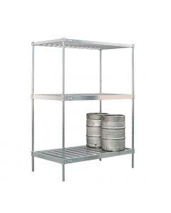 "New Age 60"" Aluminum Keg Rack"