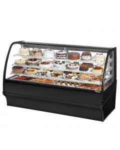 "77"" Refrigerated Curved Glass Deli Case True TDM-R-77-GE/GE-B-W"