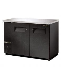 """48"""" True TBB-24-48 back bar refrigerator with 2 solid swing doors in black vinyl exterior finish"""