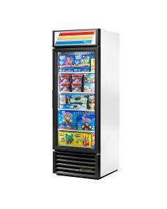 """True GDM-23F-LD-W Reach-in One Section One Door Display Freezer - 1 Glass Door - White 27"""""""