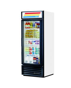 True GDM-26 Single Door Reach-In Display Cooler | White