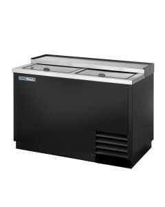True T-50-GC-HC Plate and Glass Chiller/Froster, 2 Lids | Black Powder-Coated Exterior