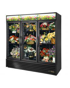 True GDM-72FC-HC~TSL01 | Floral Cooler, 3 Hinged Glass Doors