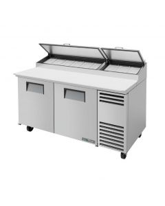 """67"""" Two Door Refrigerated Pizza Prep Table True TPP-67"""