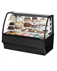 """59"""" Refrigerated Curved Glass Deli Bakery Case True TDM-R-59-GE/GE-B-W"""