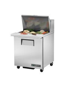 "27"" Single Door Mega Top Sandwich/Salad Refrigerated Prep Table - True TSSU-27-12M-B-HC"
