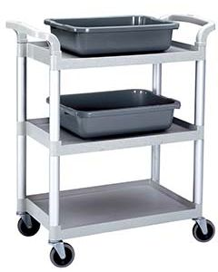 Cambro BC331KD480 Wheeled Utility Restaurant Bussing Cart for Bus Tubs