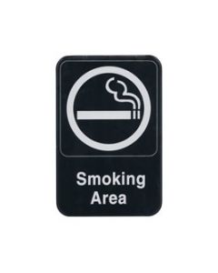 "Sign 6x9"" Smoking Area"