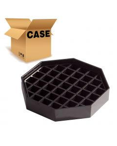 """4-1/2""""Black Octagon Coffee Drip Tray, Pack of 4"""