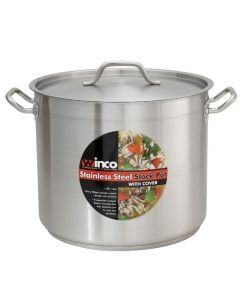 20 Qt Stainless Steel Commercial Stock Pot with Lid