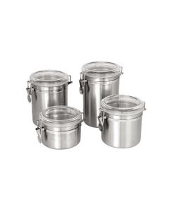 Stainless Steel Storage Can with Lid | 64 oz.
