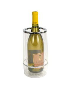 Clear Acrylic Insulated Wine Cooler Bottle Chiller